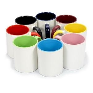 Печать на кружках цветные внутри и ручка