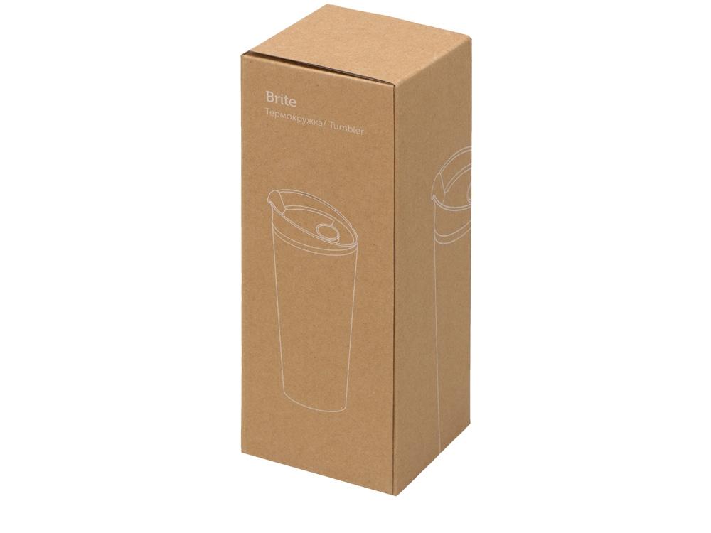 Термокружка «Brite» 500мл, белый/зеленое яблоко