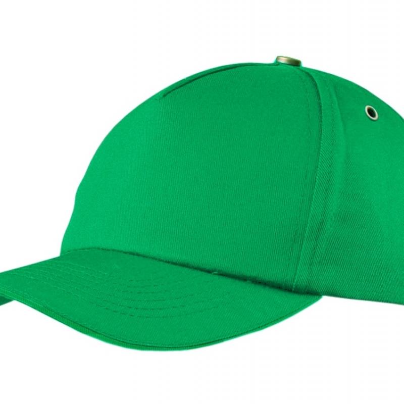 """Бейсболка """"New York""""  5-ти панельная  с металлической застежкой и фурнитурой, зеленый"""