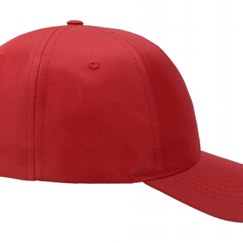 """Бейсболка """"Poly"""" 5-ти панельная, красный"""