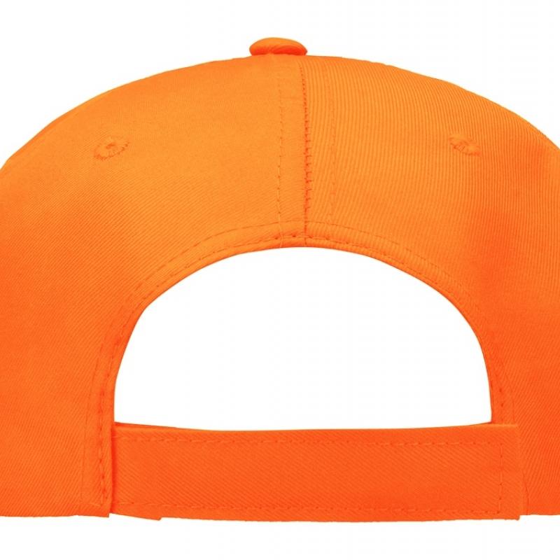 """Бейсболка """"Poly"""" 5-ти панельная, оранжевый"""