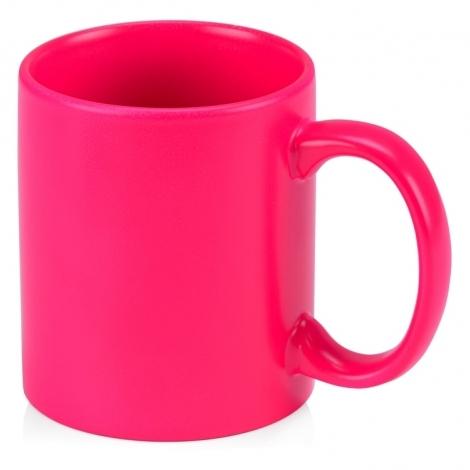 Кружка цветная 320мл, неоновый розовый