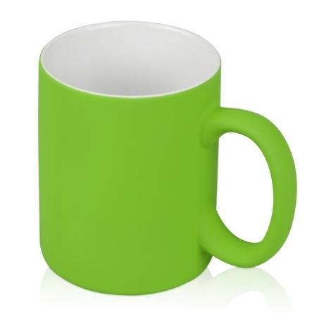 "Кружка ""Soft-touch"", зеленое яблоко"