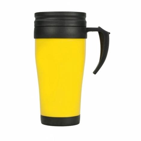 "Кружка с термоизоляцией ""Silence"" 350мл, желтый"