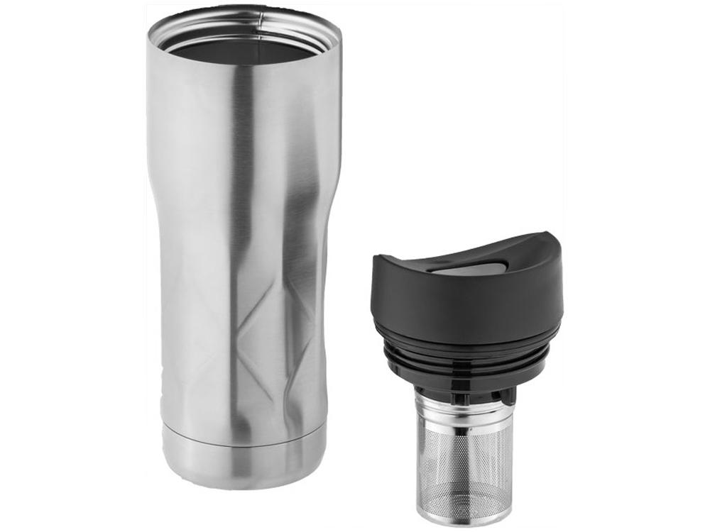 Кружка Nova с вакуумной изоляцией, серебристый/черный