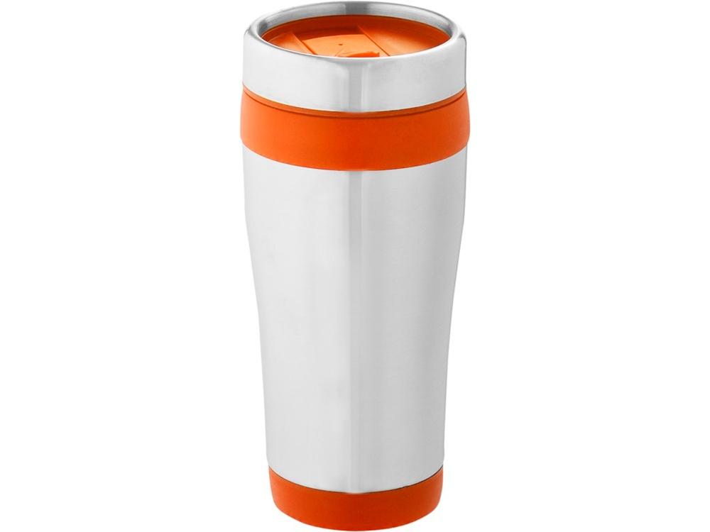 Термостакан Elwood c изоляцией, серебристый/оранжевый