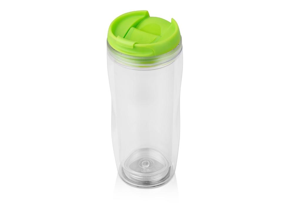 Термокружка «Mony» 400мл, прозрачный/зеленый