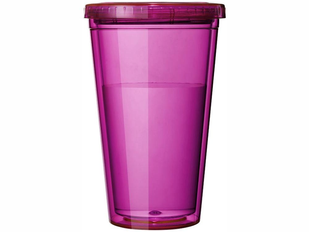 """Термостакан с соломинкой """"Cyclone"""", розовый"""