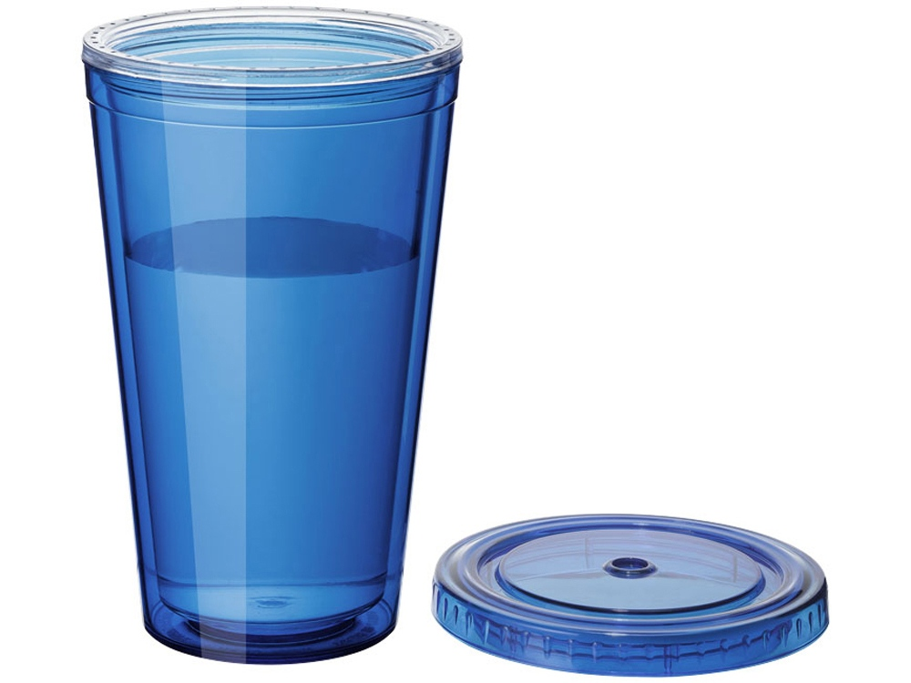 "Термостакан с соломинкой ""Cyclone"", синий"
