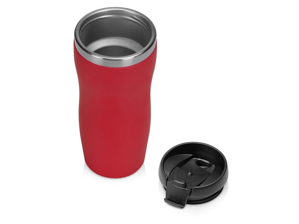 "Термокружка ""Mony Steel"" 350 мл, soft touch, красный"