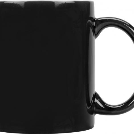 Кружка цветная снаружи 320мл, черный