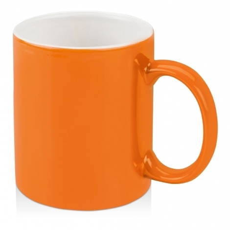 Кружка цветная снаружи 320мл, оранжевый