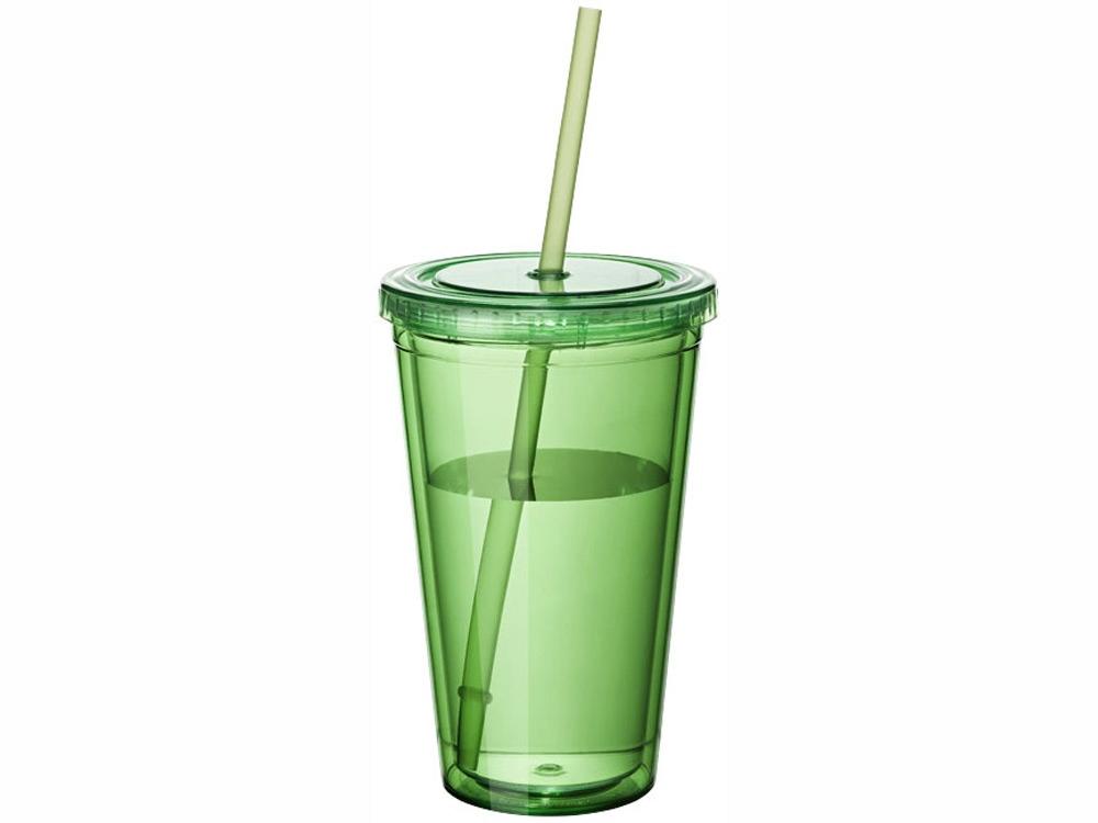 """Термостакан с соломинкой """"Cyclone"""", зеленый"""