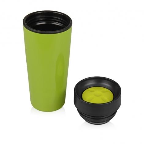 Кружка с термоизоляцией на 450 мл, зеленый