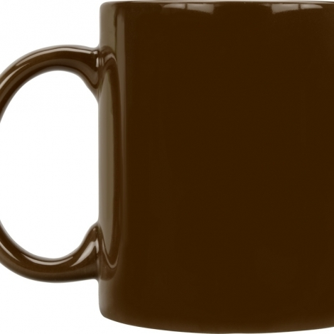Кружка цветная 320мл, коричневый