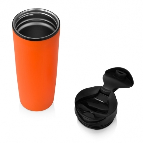 Термокружка «Годс металл» 470мл, оранжевый