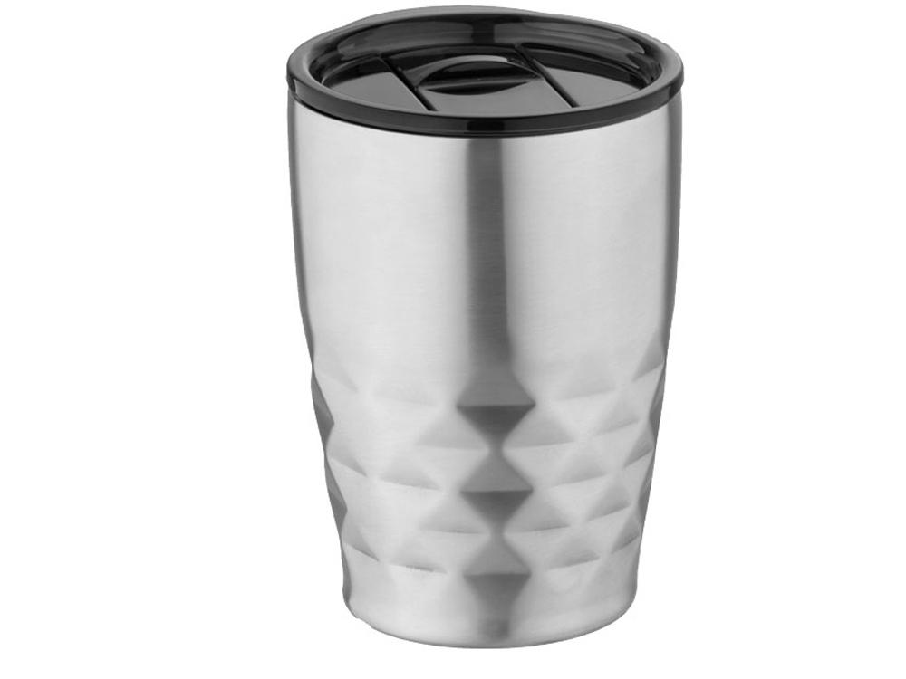 Кружка Geo с вакуумной изоляцией, серебристый/черный