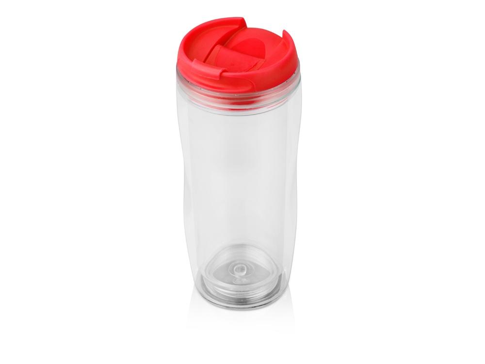 Термокружка «Mony» 400мл, прозрачный/красный