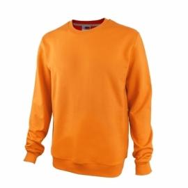 Свитшот унисекс с начесом, оранжевый