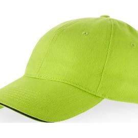 """Бейсболка """"Challenge"""" 6-ти панельная, зеленое яблоко/темно-синий"""