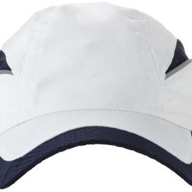"""Бейсболка """"Qualifier"""" 6-ти панельная, белый/темно-синий"""