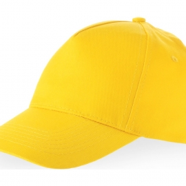 "Бейсболка ""Memphis"" 5-ти панельная, желтый"