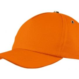 """Бейсболка """"New York""""  5-ти панельная  с металлической застежкой и фурнитурой, оранжевый"""