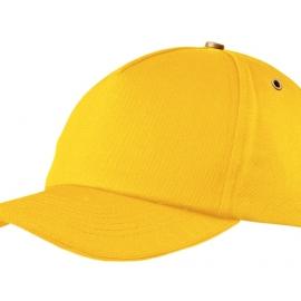 """Бейсболка """"New York""""  5-ти панельная  с металлической застежкой и фурнитурой, желтый"""