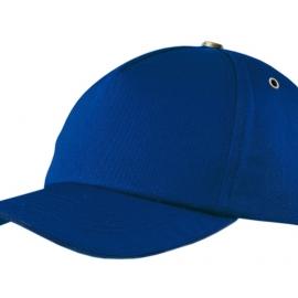 """Бейсболка """"New York""""  5-ти панельная  с металлической застежкой и фурнитурой, классический синий"""
