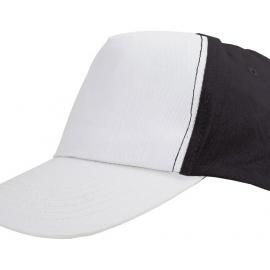 """Бейсболка """"Arizona"""" 5-ти панельная, белый/черный"""