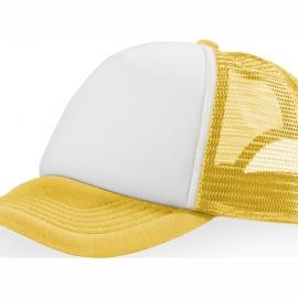 """Бейсболка """"Trucker"""", желтый/белый"""