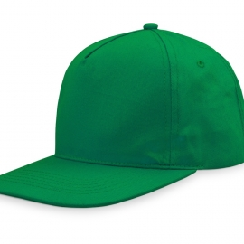 Бейсболка  5-ти панельная с прямым козырьком, зеленый