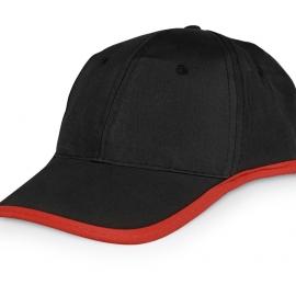 Бейсболка «Solo», черный/красный
