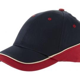 """Бейсболка """"Draw"""" 6-ти панельная, темно-синий/красный"""
