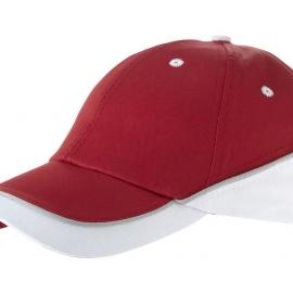 """Бейсболка """"Draw"""" 6-ти панельная, красный/белый"""