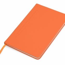 """Блокнот А5 """"Magnet"""" 14,3*21 с магнитным держателем для ручки, оранжевый"""