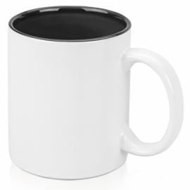 Кружка цветная внутри 320мл, белый/черный