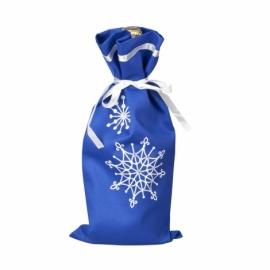 Чехол на бутылку шампанского на Новый год, синий