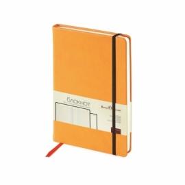 Блокнот А5 «Megapolis Velvet» на резинке, оранжевый