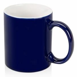 Кружка цветная снаружи 320мл, темно-синий