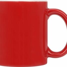 Кружка цветная снаружи 320мл, красный
