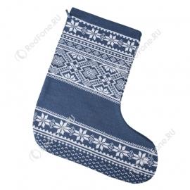 Новогодний носок для подарков, синий