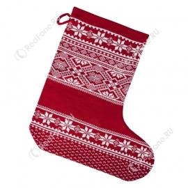 Новогодний носок для подарков, красный