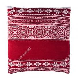 Новогодняя подушка, красная