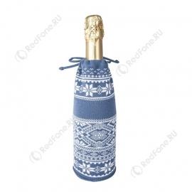 Чехол для шампанского, синий