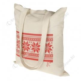 Новогодняя сумка, бежевая