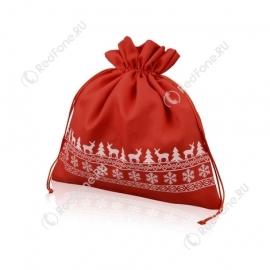 Мешочек новогодний, красный
