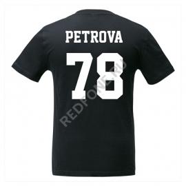 Футболка с фамилией и номером, черная