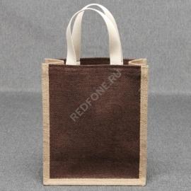 Джутовая сумка 25*30*10 см