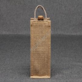 Джутовая сумка для вина 10*30*10 см